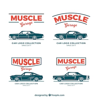 Muscle-car-logo-sammlung