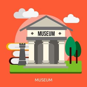Museum hintergrund-design