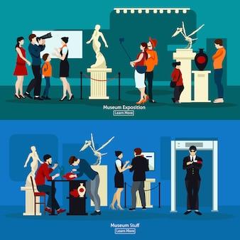 Museumsmaterial und galerieausstellung
