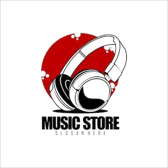 Music store logo template