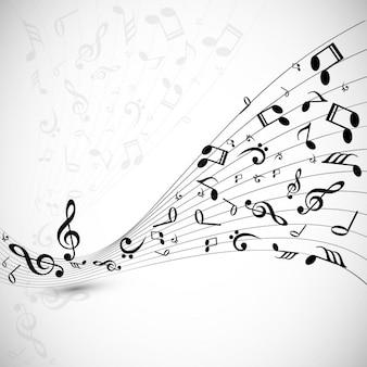 Musical welle hintergrund