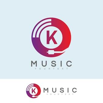 Musik anfängliche buchstabe k logo design