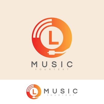 Musik anfangsbuchstaben l logo design