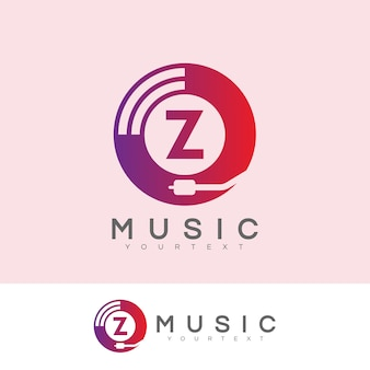 Musik anfangsbuchstaben z logo design