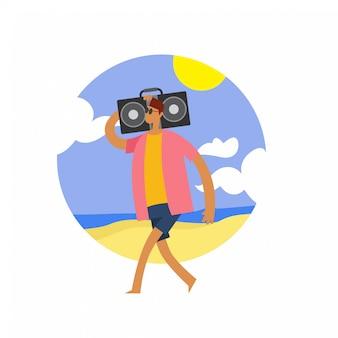 Musik auf dem strand