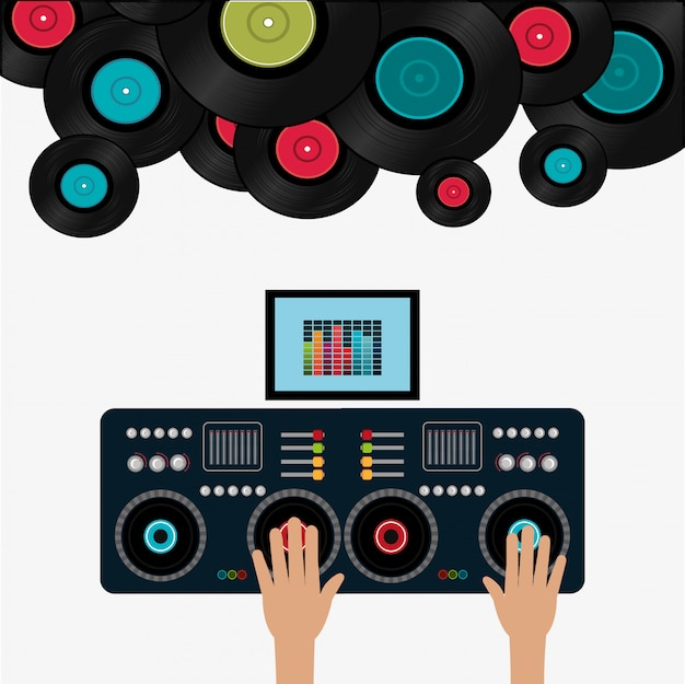 Musik digitales design.