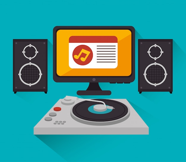 Musik-dj-party-thema