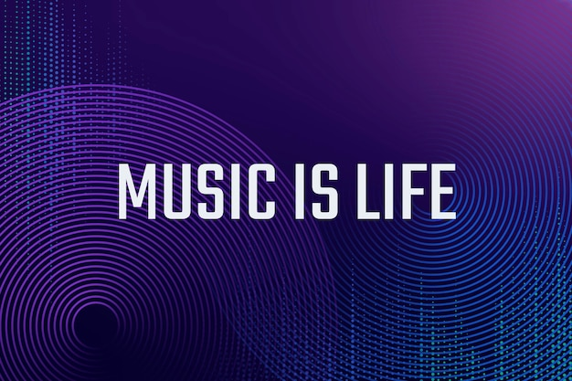 Musik-equalizer digitale vorlage für unterhaltungstechnologie-werbebanner mit schlagwort