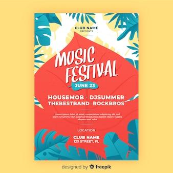 Musik festival flyer vorlage