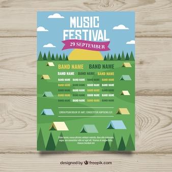 Musik festival flyer