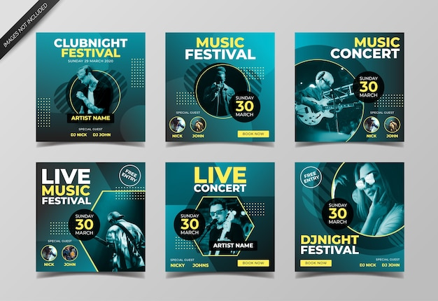 Musik festival instagram post vorlage