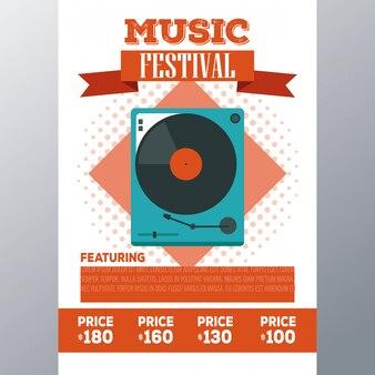 Musik festival konzerthalle flyer