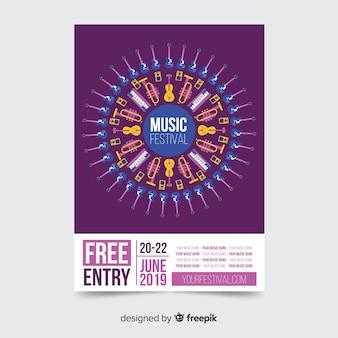 Musik festival plakat vorlage