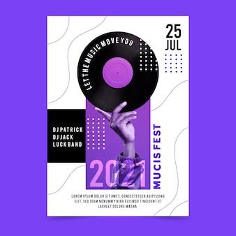 Musik festival poster vorlage