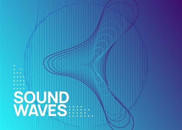 Musik-flyer. wellenförmiges layout für konzerteinladungen. dynamisch fließende form und linie. neon-musik-flyer. electro-dance-dj. elektronisches soundfest. techno-trance-party. plakat zur vereinsveranstaltung.