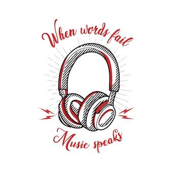 Musik für t-shirt design