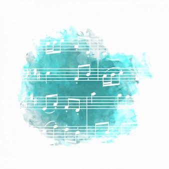 Musik-hintergrund in blau