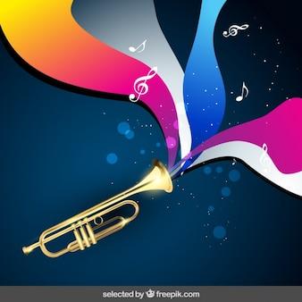 Musik-hintergrund mit trompete