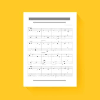 Musik hinweis blatt komponieren song icon illustration vektor