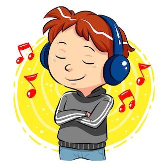 Musik hören Premium Vektoren