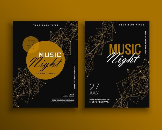Musik nacht party flyer vektor vorlage design
