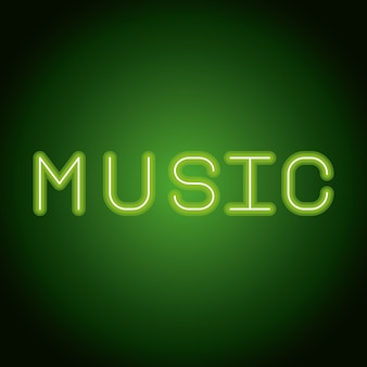 Musik-neonwerbung