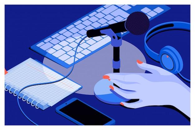 Musik oder podcast hintergrund