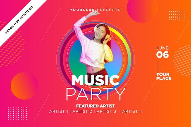 Musik Party Vorlage