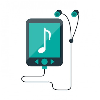 Musik-player mp3 mit kopfhörern