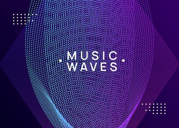 Musik-poster. geometrische showbroschüre-design. dynamisch fließende form und linie. neon-musikplakat. electro-dance-dj. elektronisches soundfest. flyer zur vereinsveranstaltung. techno-trance-party.