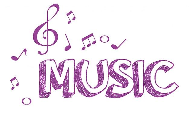 Musik poster mit notizen