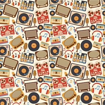 Musik retro nahtlose muster