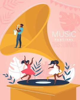 Musik sommer festival poster.