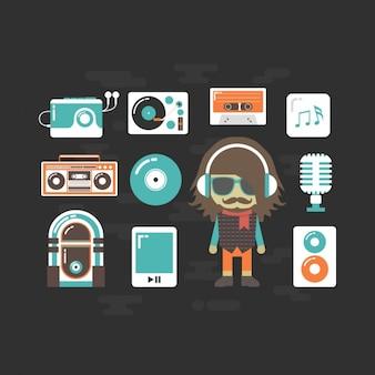 Musik-spieler-sammlung