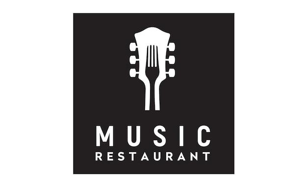 Musik und essen logo design