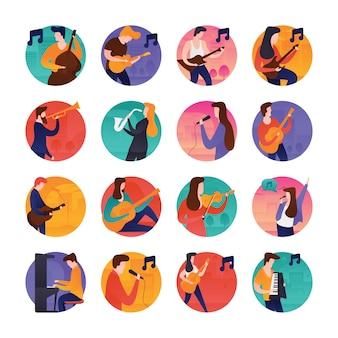 Musik und musiker icons
