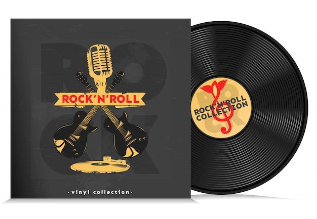 Musik vinyl disc komposition