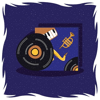 Musik vinyl disk record isoliertes symbol