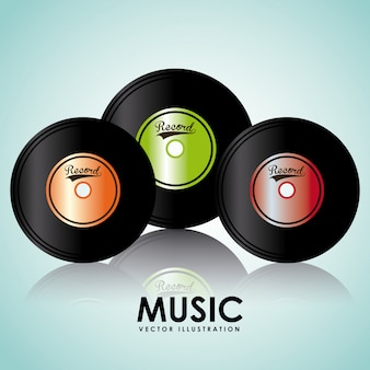 Musik vinyl grafikdesign