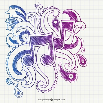 Musikalische anmerkungen kritzeln