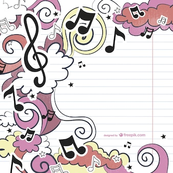 Musikalische zeichnung vektor