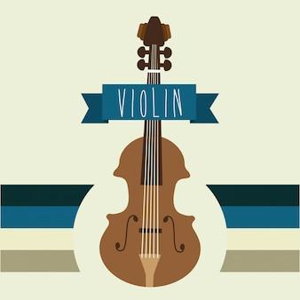 Musikalisches design über beige hintergrundvektorillustration