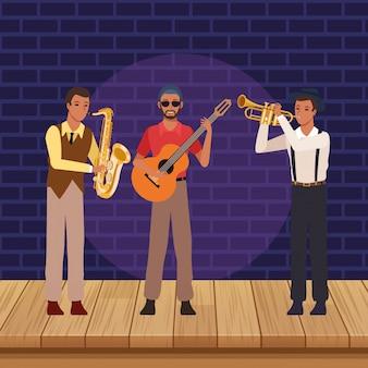 Musikband-karikatur