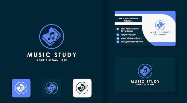 Musikbuch-logo-design und visitenkarte