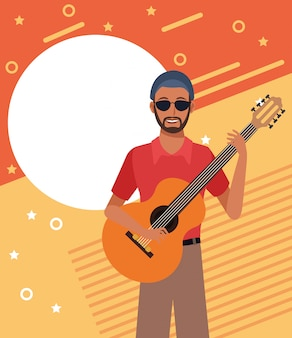 Musiker künstler cartoon