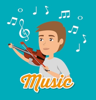 Musiker mann im konzert