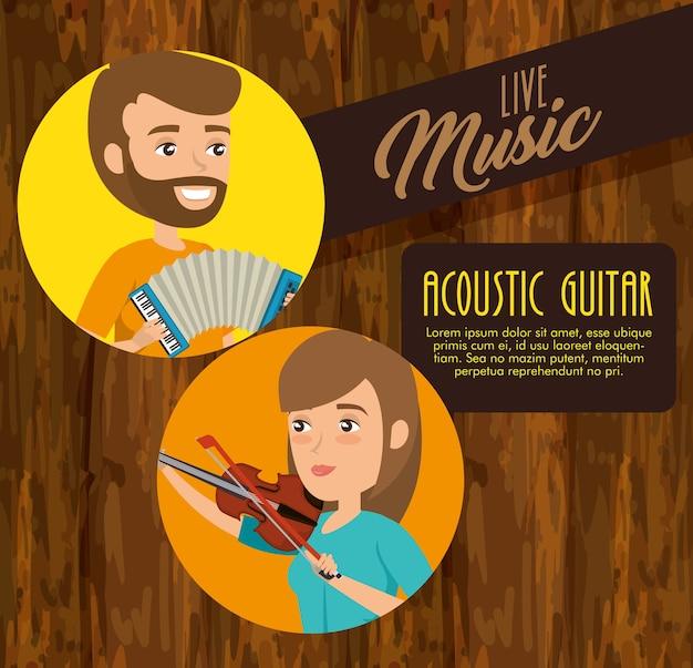 Musiker paar im konzert