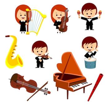 Musiker und instrumente