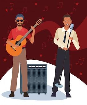 Musiker und sänger, jazzmusikband