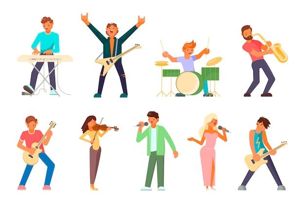 Musiker und sängerfiguren